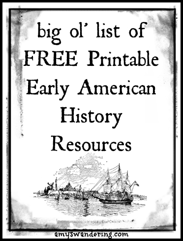 Free Printable Early American History Resources