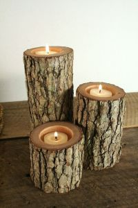 Tree Branch Candle Holders Rustic Candle Sticks Log ...