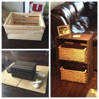 End table made from home depot wine crates | My Pinterest ...
