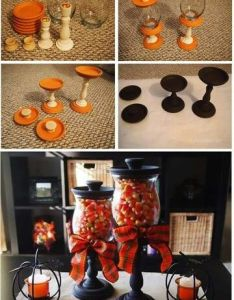 Cute halloween candy dishes crafts crafty decor home ideas diy decorations for the pumpkins easy idea also jars pinterest decoration rh