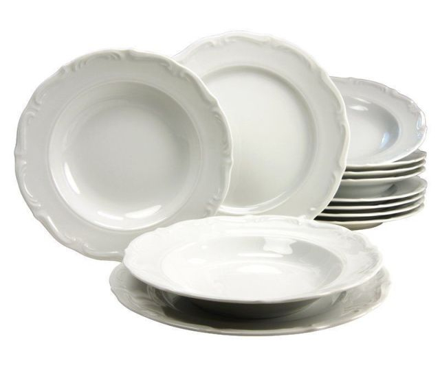 Piece Dinnerware Set Classic Christmas Festive Collection Service For  Party