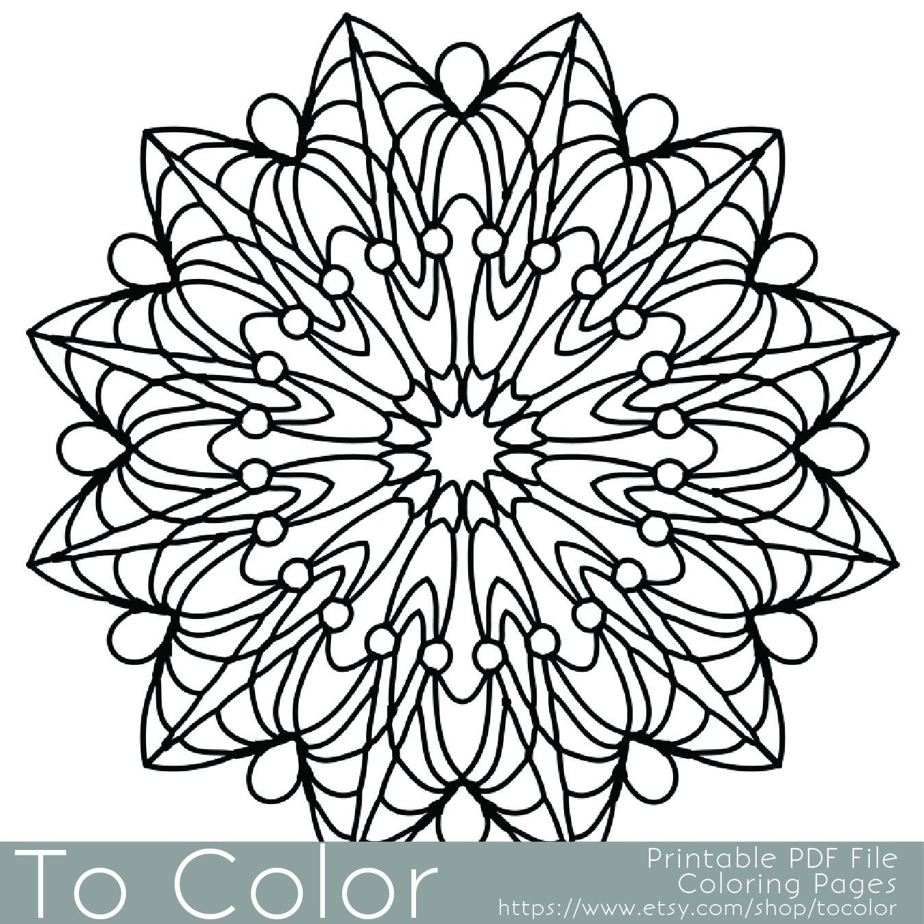 Simple Printable Coloring Pages For Adults Gel Pens