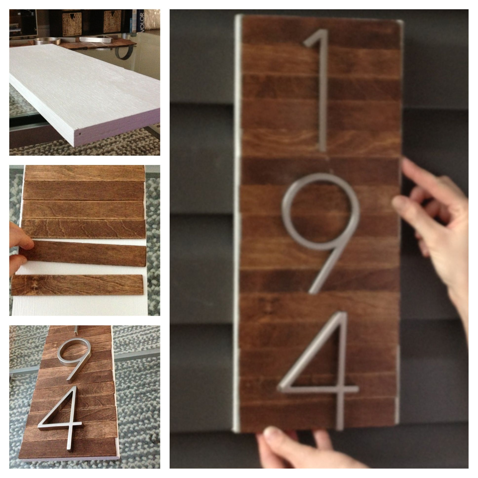 WE Could Put Pretty Numbers On A Beautiful Board DIY House Number