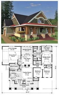 Bungalow House Plans on Pinterest | Bungalow Floor Plans ...