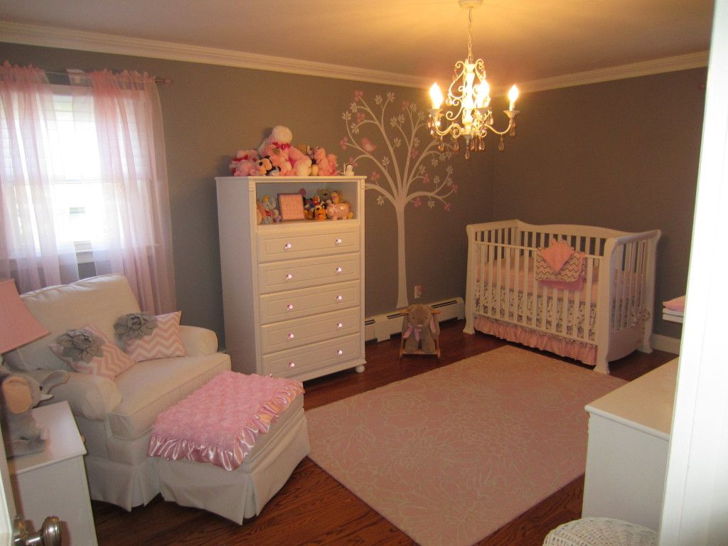 Safari Mural in an Elegant Twin Girls\u0027 Nursery - Project Nursery ...