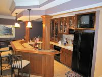 Finished basement bar | Vincent Abell Contracting ...