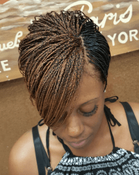 Dope braided pixie via @braidsbytasha