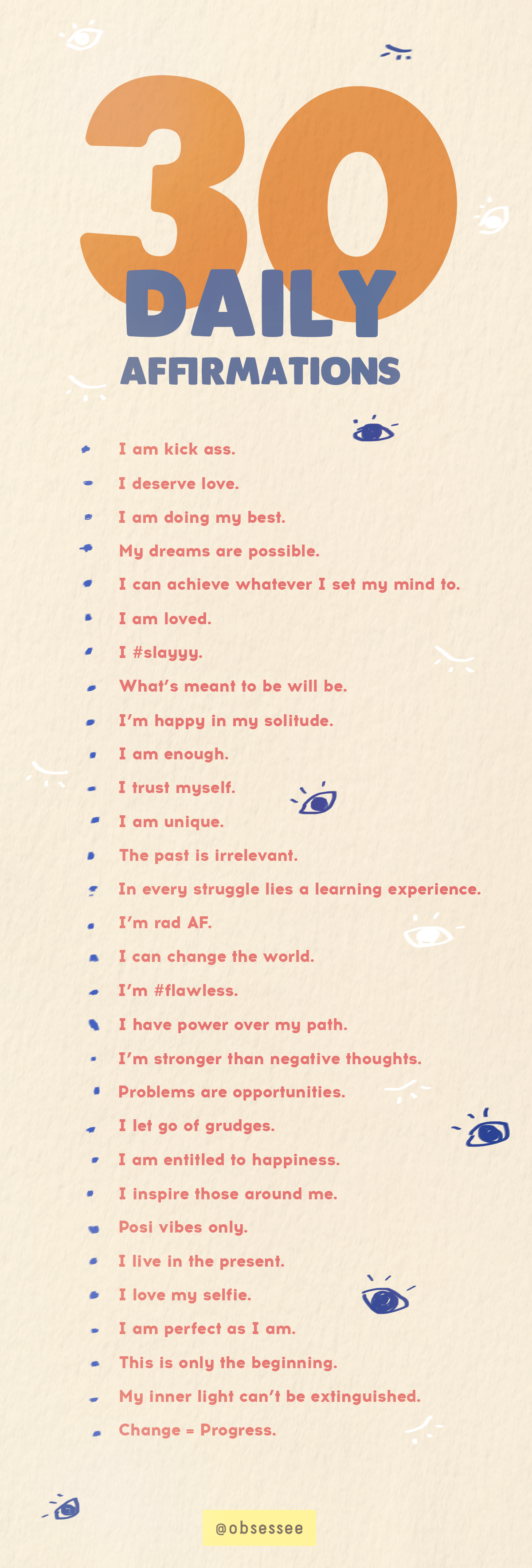 Save These 30 Daily Affirmations For Positive Words To