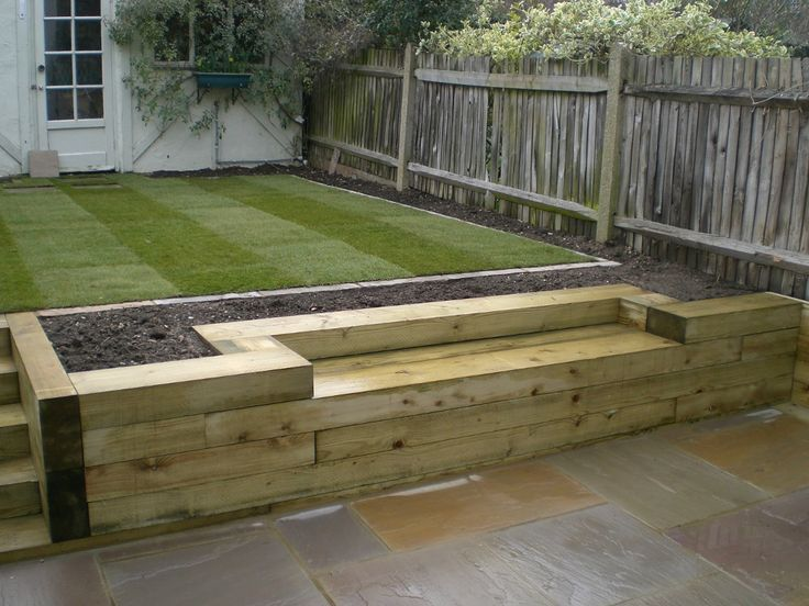 Sleeper Garden Edging Ideas Landscaping Gardening Аро