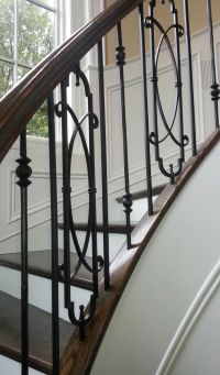 metal baluster system curved staircase | Railing Systems ...