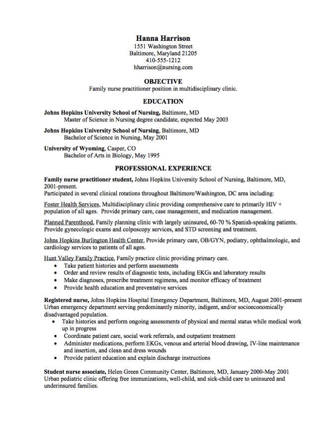 Graduate Nurse Practitioner CV Samples Resumesdesign Com
