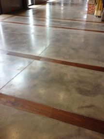 Concrete Floors With Wood Inlay Garage Ideas