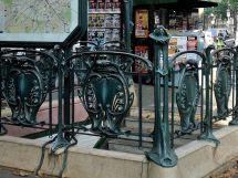 Entrances Metro Station Early 20th Century Paris