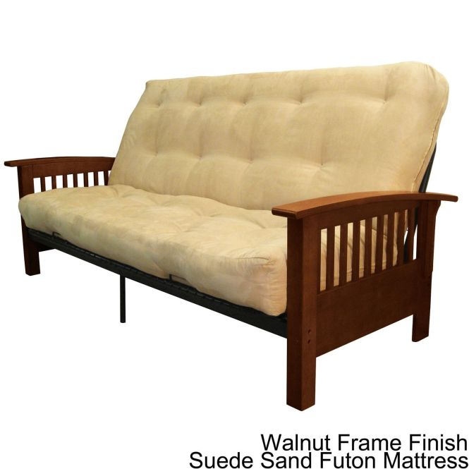 Epicfurnishings Brendan Full Size Mission Style Frame With Inner Spring Futon Mattress Set Sleeper