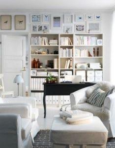 Idee decoration salon mur vedette bibliotheques also diy home rh za pinterest