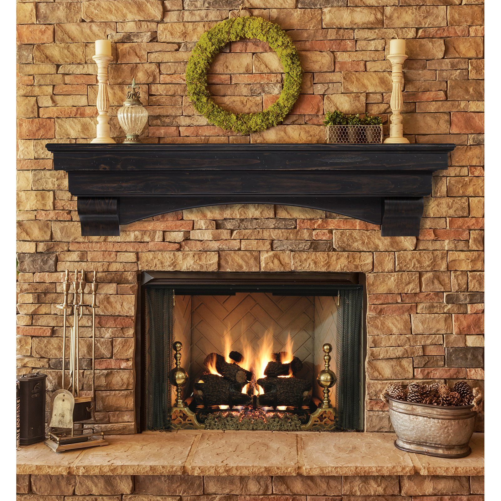 Pearl Mantels Celeste Fireplace Mantel Shelf