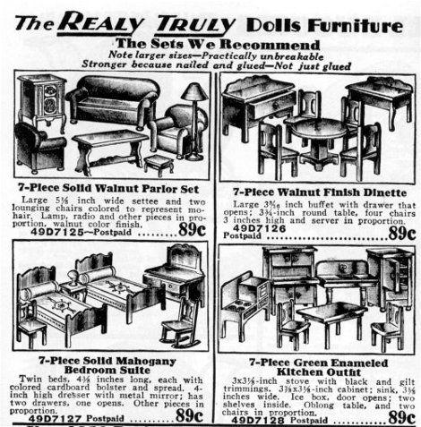 1930s Doll Furniture 1930 Sears Roebuck
