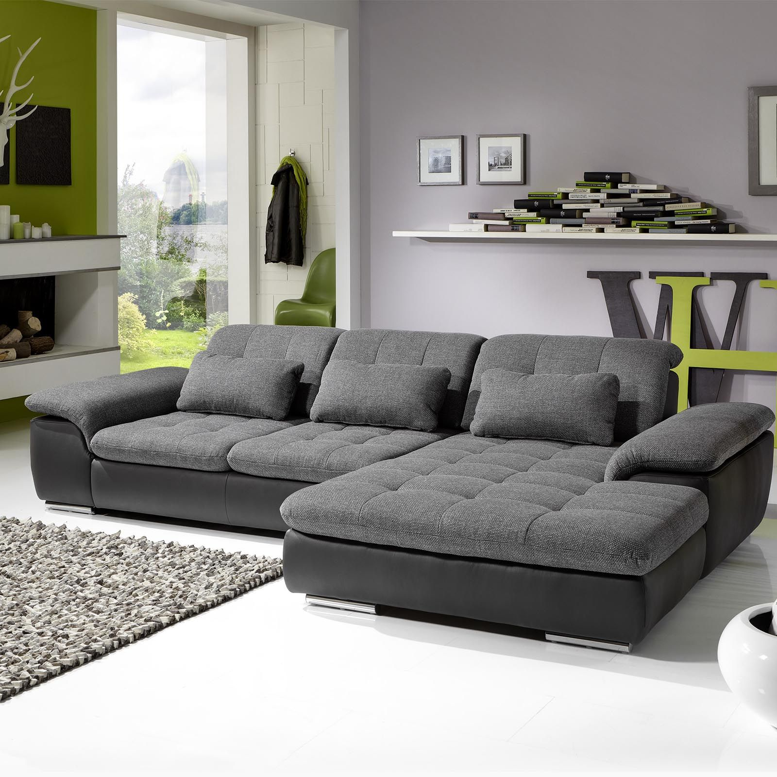 megapol sofa isola dundee utd sofascore wohnlandschaft individuell anthrazit silver modern