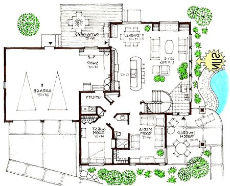 Ultra Modern Home Floor Plans L I H Small Modern Homes