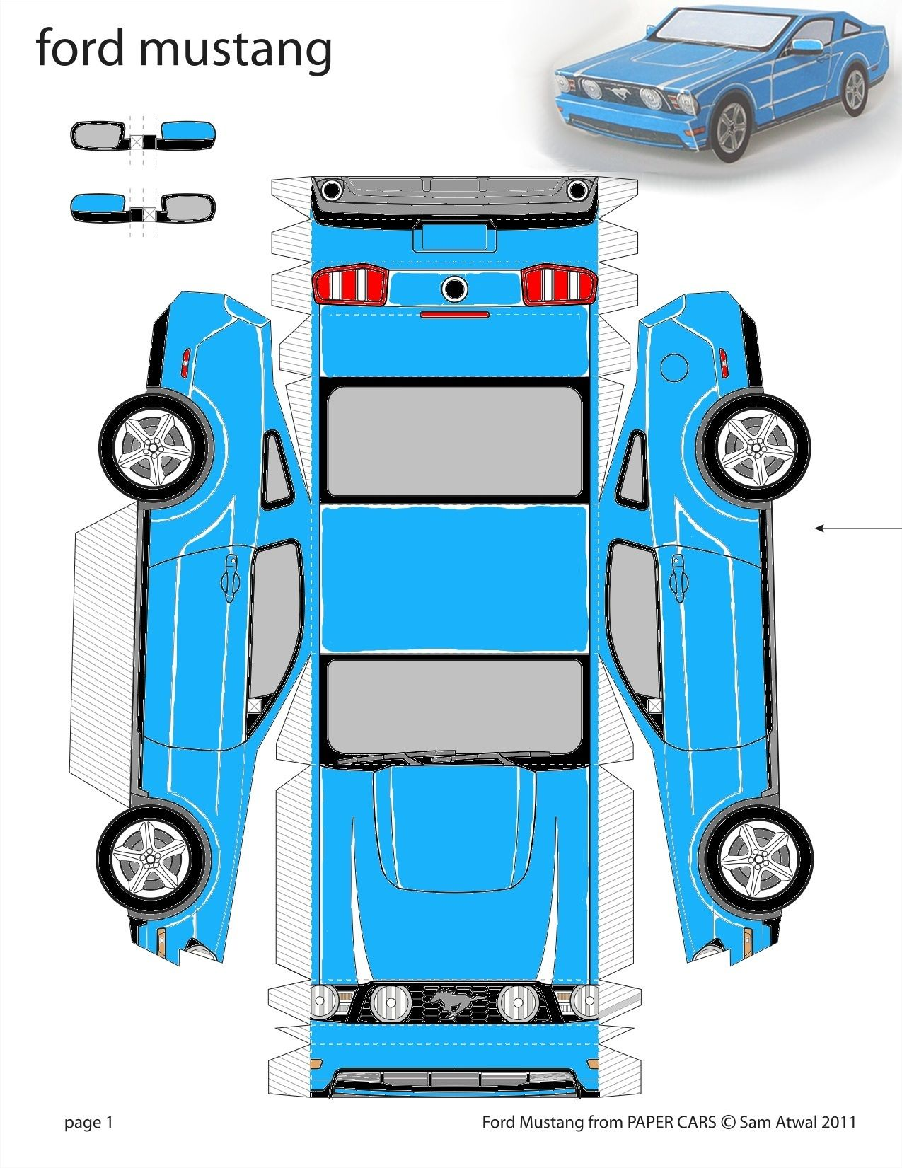 3d Paper Template Expedition Car