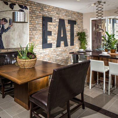 Exposed Brick Splashback Perspex Sign Kitchen Love