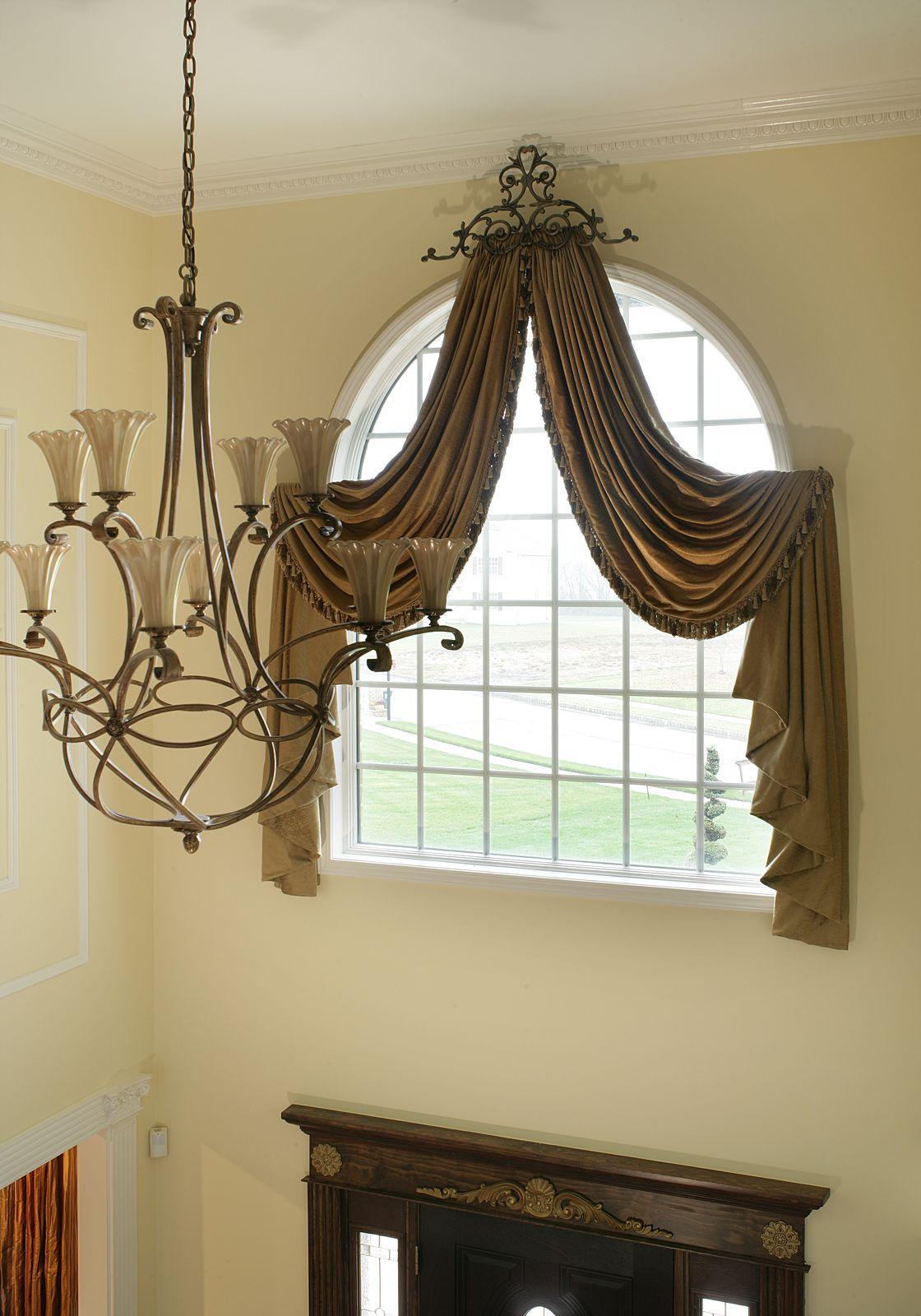 Arched window treatments Marlboro New Jersey  Custom
