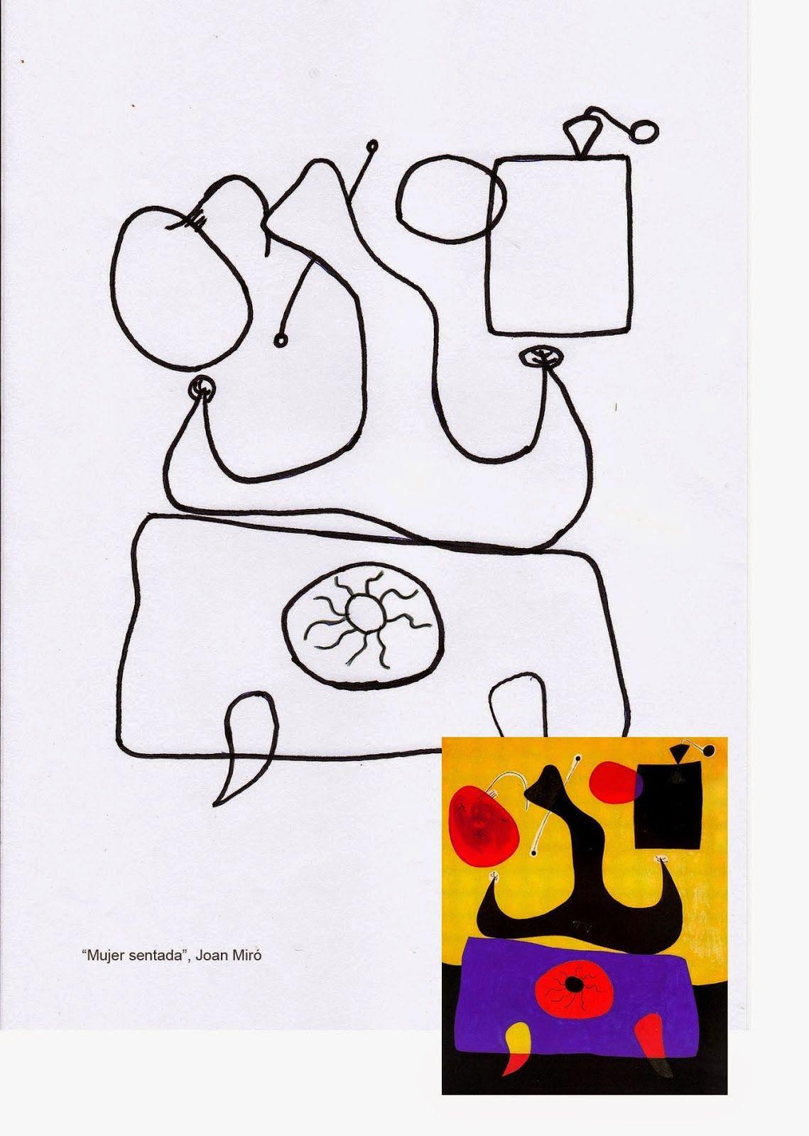 Pintores Famosos Miro Para Ninos Cuadros Para Colorear Cuentos Puzzles Imitacion De Obras