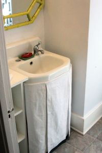 Top 10 Easy DIY Sink Skirts | Sink skirt, Sinks and Laundry