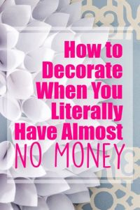 How to Decorate on a Tight Budget | Budgeting, Decorating ...