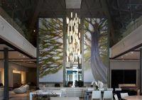 tall entry lobby chandelier | Modern lighting for foyer ...