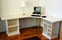 Ana White Corner Desk | Modular desk - finally finished ...