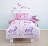Cute, cute, cute! Magical Unicorn Toddler Cot Bed Duvet ...