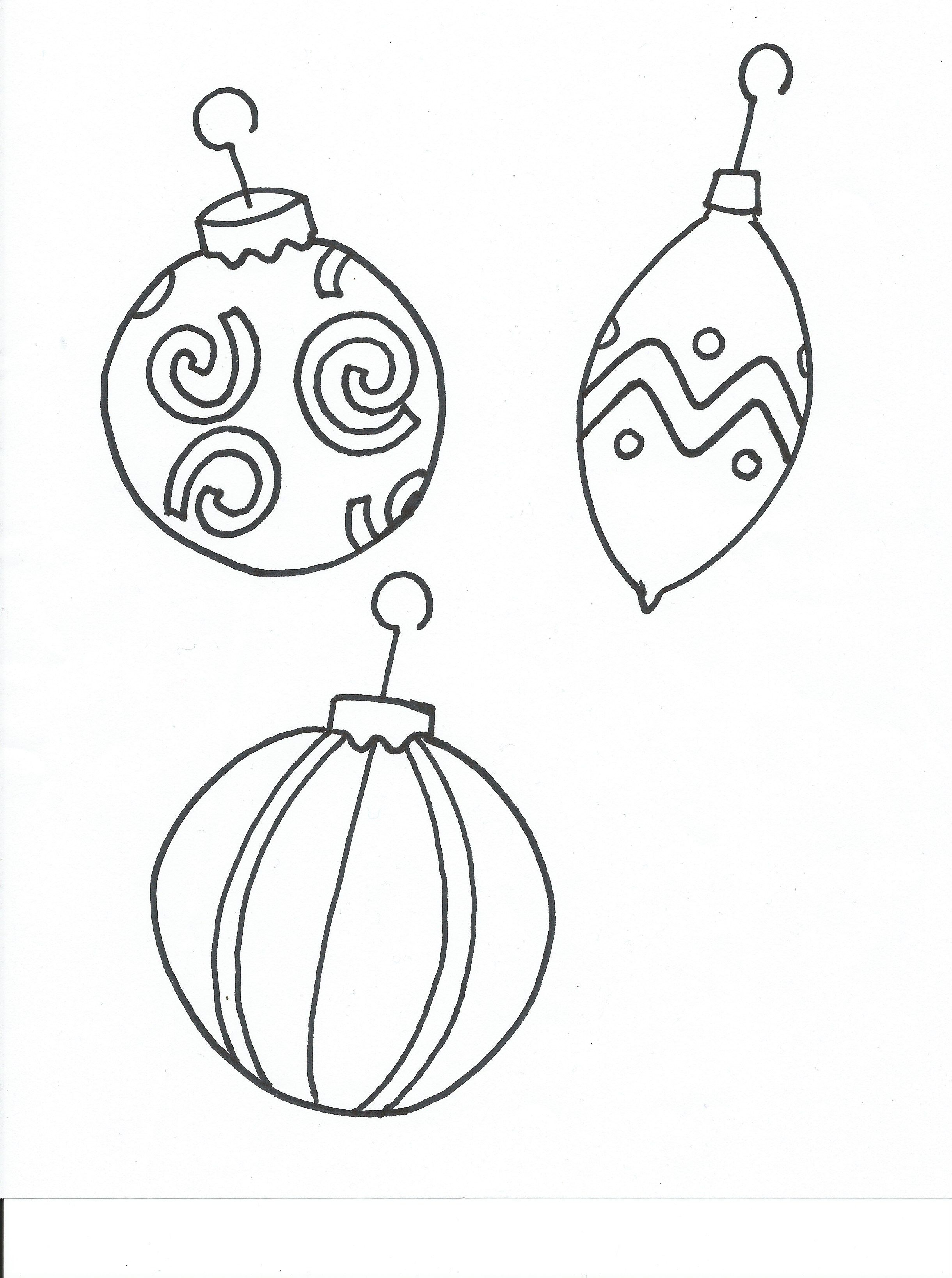 Coloring Pages Christmas Ornaments Printable Google Search