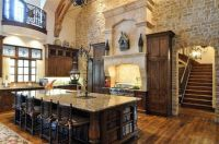 Elegant Warm Tuscan Themed Kitchen with Beautiful Vintage ...