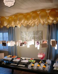 Love This Idea For Graduation Party Or Special Birthday Photos Hanging From Balloons To Create Chandelier
