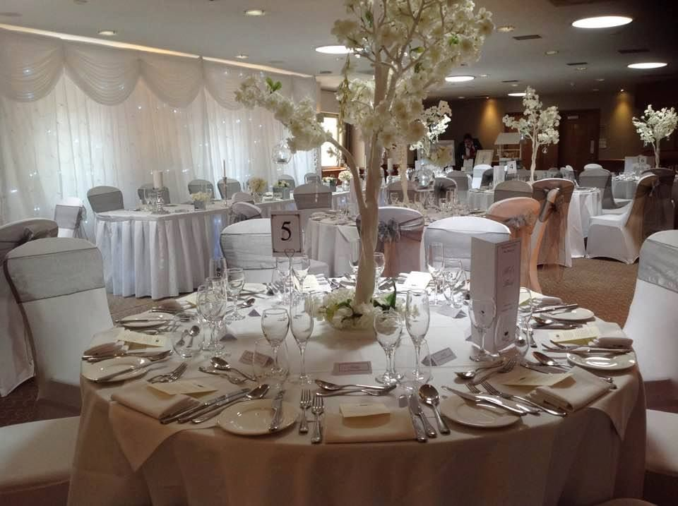 wedding chair covers tamworth plastic chairs factory lea marston hotel blossom tree centrepieces starlight venue dressing by make it special events trees backdrop