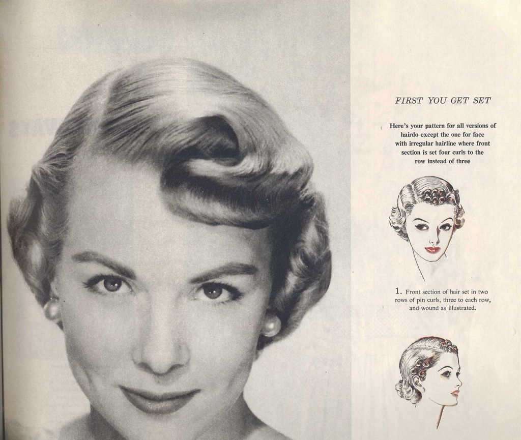 pin curl diagram 1991 nissan 240sx wiring setting instructions vintage hair pinterest