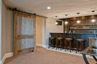 with bar barn barn door basement door reclaimed wood ...