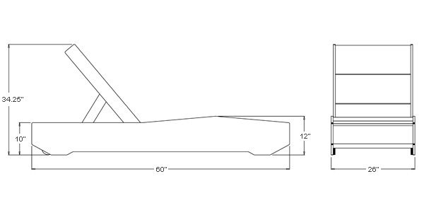 pool lounge chair dimensions