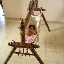 Basket Swing Chair India Feminine Executive Office Chairs Indian Style Old Wooden Baby Cradle Julla