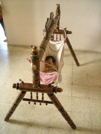 Indian style OLD Wooden BABY SWING , Indian Cradle, Julla ...