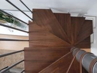 Square steel and wood Spiral staircase in kit form PIXIMA ...