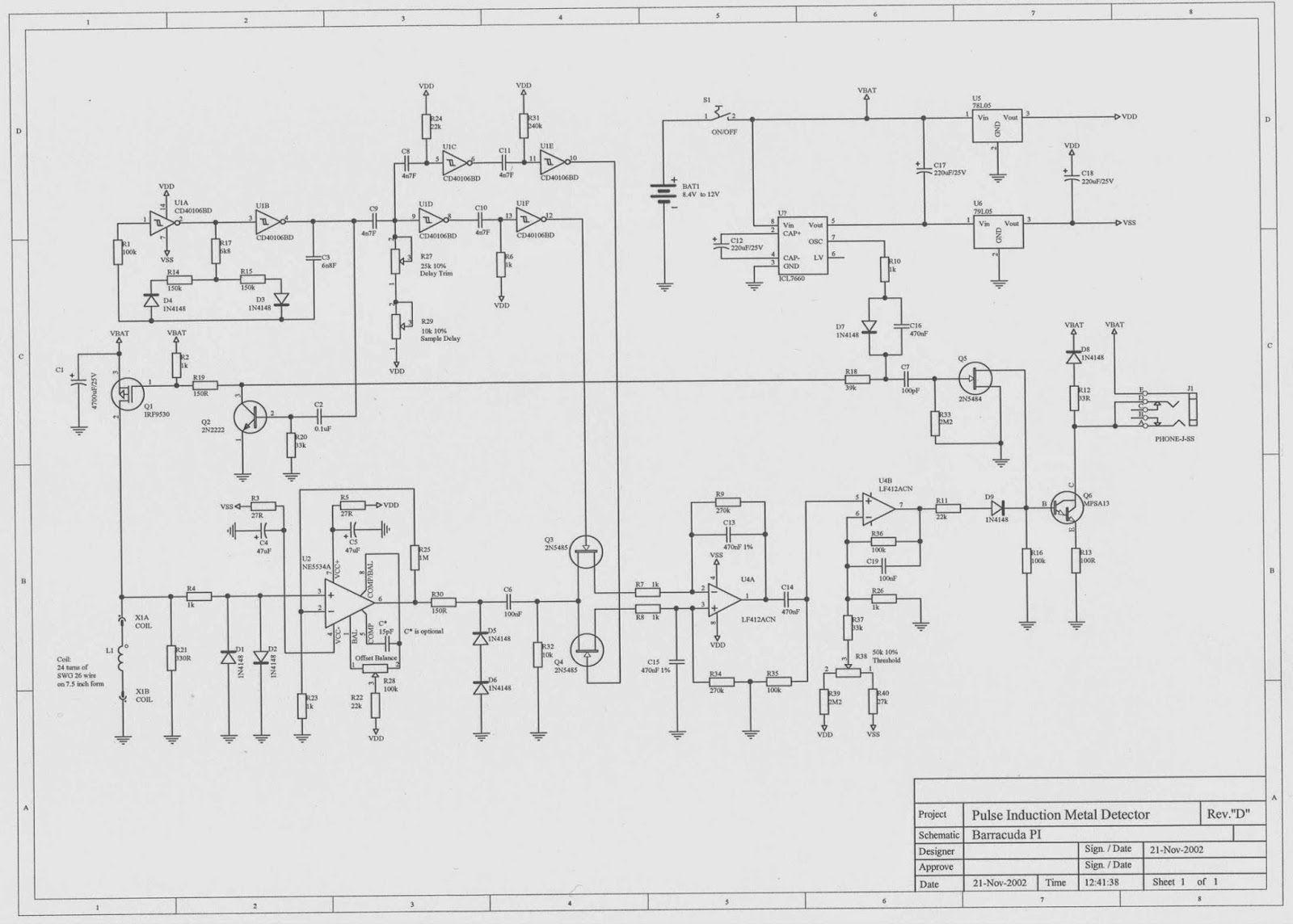 gold detector circuit diagram vauxhall vectra c wiring barracuda pre2 jpg 16001144 metal pinterest