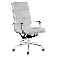 Designer Executive Chair Distressed White Metal Dining Chairs Office Sydney Skrifborðsstólar