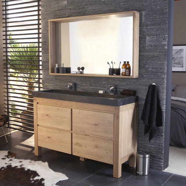 meuble castorama de salle de bain en chene fabricant cooke lewis harmon