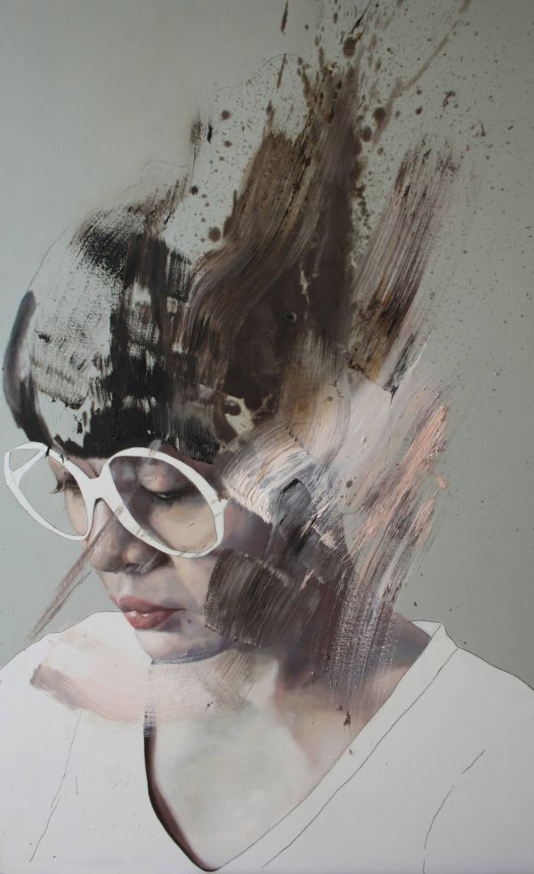 1 10 Limited Edition Print With Signature Of Il Lago Fermo Woman Face Figurative And Grunge