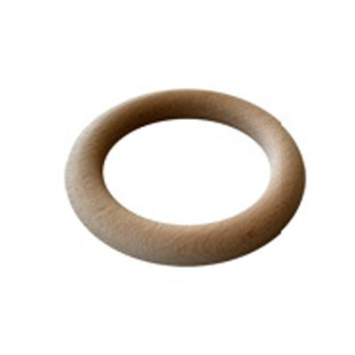 European Smooth Unfinished Drapery Wood Pole Curtain Rings