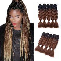 Ombre Jumbo Braiding Hair Extension Synthetic Kanekalon ...