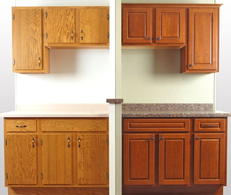 How to Reface Kitchen Cabinets Before  After Pictures