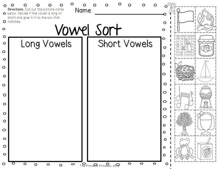 Short and Long Vowel Activities, Picture Cards, Worksheets
